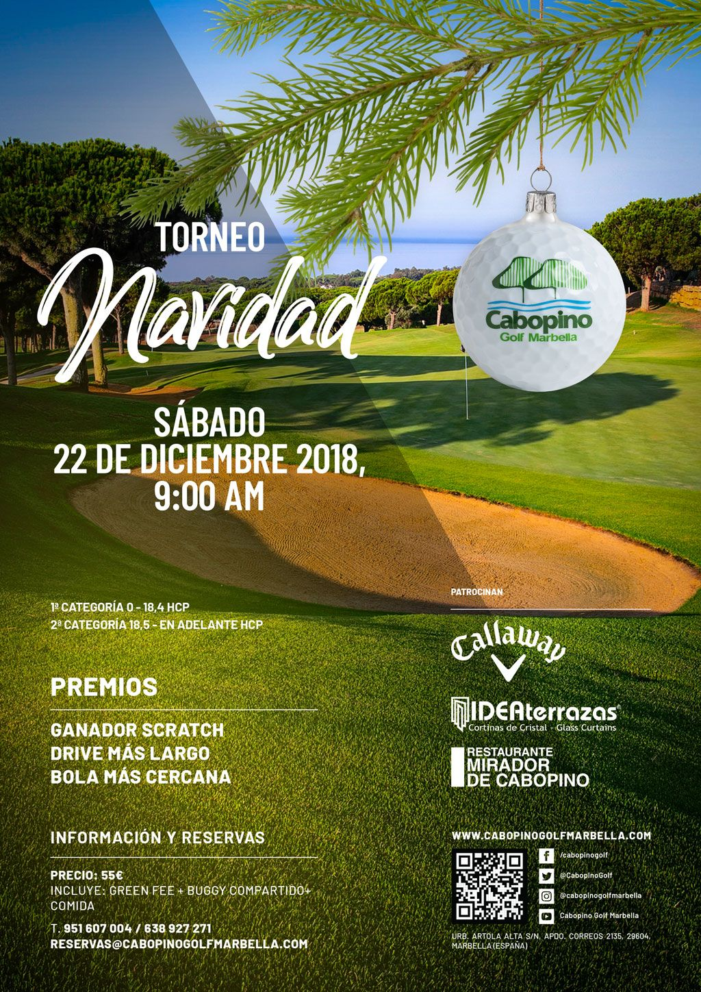 Cabopino Golf 2018 Christmas Tournament
