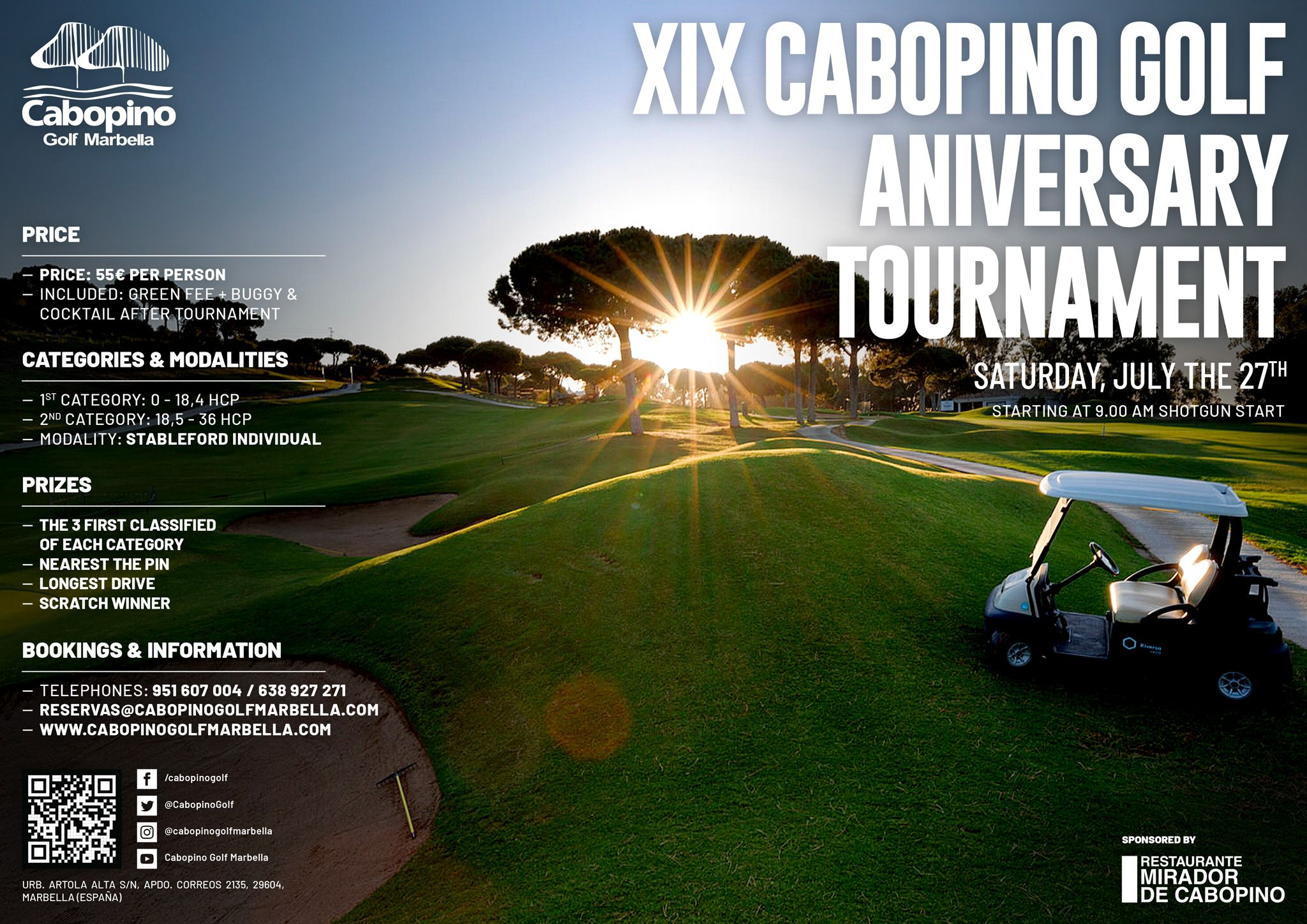 XIX Cabopino Golf Aniversary Tournament